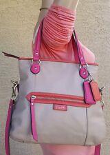 Coach Daisy Sand/Pink Leather Mia spectator Handbag Crossbody Tote Purse F23911
