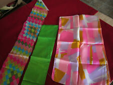 vintage womens accessories bright 60s funky scarves! one silk