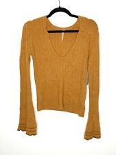 Free People May Morning Pullover Sweater Size S P NWT $108 Copper
