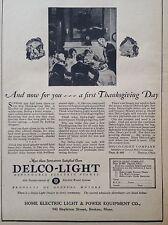 VINTAGE AD 1928 (XX52)~DELCO-LIGHT POWER PLANT, DAYTON, OHIO
