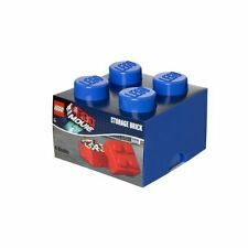 Lego Storage Brick Block Box Medium 4 - Movie Collection - Blue - Toy Box - New