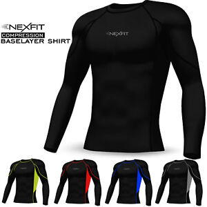 Men Compression Tops Shirt Base Layer Activewear Sports Under Skin Tight Suit