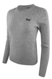PXG Women's Cable Knit Wool Sweater