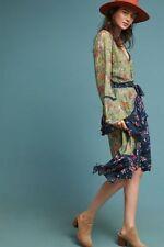 New Anthropologie Williston Wrap Dress by Love Sam Green size S NWT