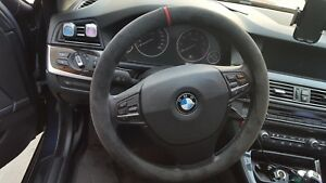 ALCANTARA STEERING WHEEL COVER for ALL BMW Series/ 528i 520D 530i 535i 540i 550i