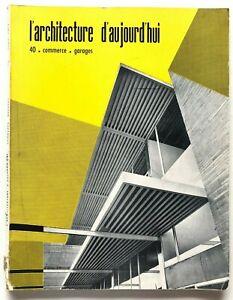 L'architecture d'aujourd'hui n. 40 1952 Rivista Commerce Garages Richard Neutra
