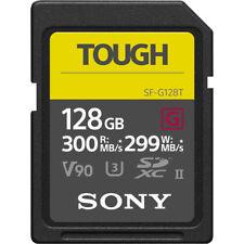 New Sony G Tough Series SF-G128T 128GB UHS-II Class 10 U3 SDXC SD Memory Card