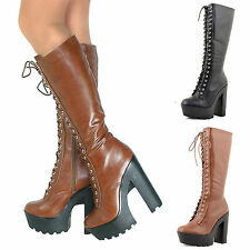 Zip Synthetic Leather Knee High Boots Formal Shoes for Women