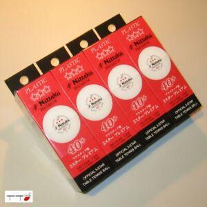 12 x Nittaku 3-Star Premium 40+ Table Tennis Balls White Made in Japan