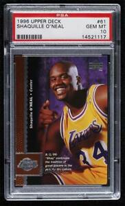1996-97 Upper Deck Shaquille O'Neal #61 PSA 10 GEM MINT HOF