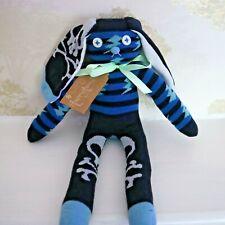 Handmade Sock bunny - Roger - Skull and Crossbones plush Soft Toy - Pirate
