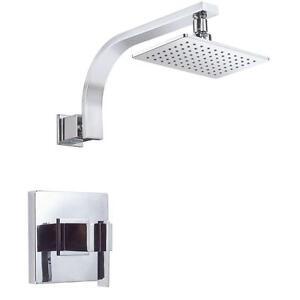 DANZE Single-Handle Pressure Balance Shower Faucet Trim Kit in Chrome (Valve Not