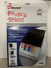 "SKILCRAFT 24"" Screen Privacy Filter Black 7045-01-619-2983"