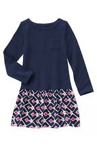 Nwt Gymboree Everyday  Basic Dress Size 4 School Fall Winter Play Day Navy