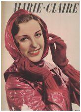 Marie Claire Magazine November 3 1939 French Fashion