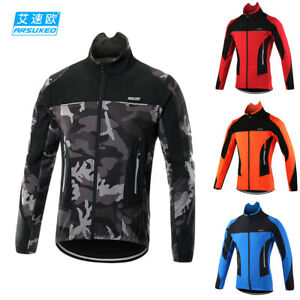 Arsuxeo Cycling Jacket Jersey Riding Bicycle Bike Wind Coat S~XXL Unisex