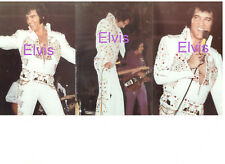 ELVIS PRESLEY ON STAGE CONCERT LOT OF 3 PHOTOS CANDID