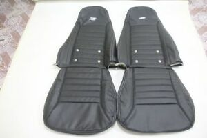 1969-1979 240/260/280Z Datsun Vinyl Leather Replacement Seat Covers Black
