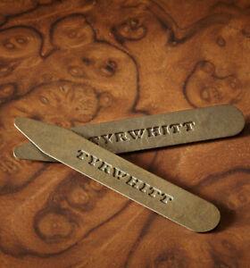 Charles Tyrwhitt Solid Brass Classic Collar Stiffeners 🇬🇧