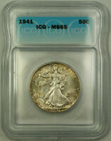 1941 Silver Walking Liberty Half Dollar 50c Coin ICG MS-65 Lightly Toned