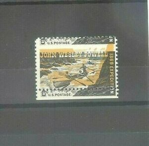 US 6c John Powell Expedition Mint NH Stamp Color & Perforations Misplaced Error