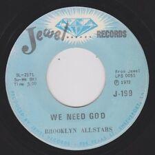 BROOKLYN ALLSTARS {70s Black Gospel} LET ME LEAN ON YOU / WE NEED GOD ♫hear VG