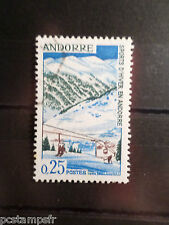 ANDORRE FRANCAISE, timbre 175 SPORTS D HIVER, SOLDEU, oblitéré, VF USED STAMP
