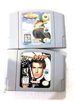 Nintendo 64 N64 Wave Race & James Bond Goldeneye 007 Video Game Lot AUTHENTIC!
