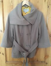 Ladies Old Navy Camel Colour Autumn Winter Coat 3/4 Length Sleeves Wool Size M