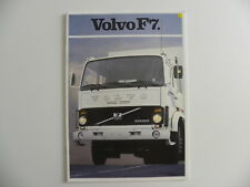 Brochure camion VOLVO F7 de 03 / 1982