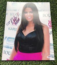 Khloe Kardashian Signed Authentic 11X14 Photo Autographed PSA/DNA COA