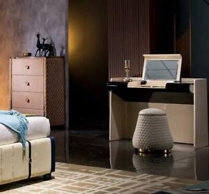 Tocador Taburete Set Completo Cómoda Dormitorio Nuevo 2tlg. Consola Conjunto