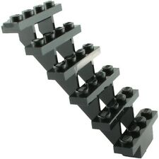 LEGO Black Stairs 7x4x6 straight open NEW