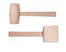 Holzhammer Schreinerhammer Klopfholz Rund oder Quadratisch Holz Hammer 350g 550g