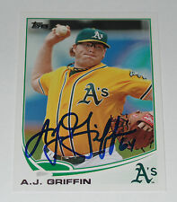 AJ A.J. GRIFFIN SIGNED AUTO'D 2013 TOPPS CARD #370 OAKLAND ATHLETICS RANGERS