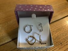 Earring Set CZ Hoops. Lever Back