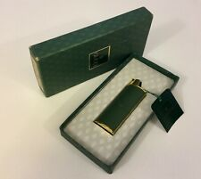 VINTAGE GUCCI GREEN LEATHER GOLD TONE BIC LIGHTER CASE BOXED RARE COLLECTBLE