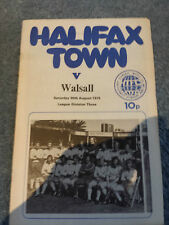 Halifax Town v Walsall, 1975-76