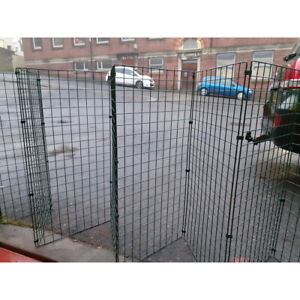 Foldable Fence For Small Dog Puppy by Flexipanel Fencing Gate Pen 1Metre High