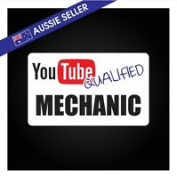 Youtube Qualified MECHANIC Sticker - Tools Shed Car Decal Toolbox Filter Bearing