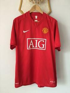 MANCHESTER UNITED 2007 2008 2009 HOME FOOTBALL SOCCER SHIRT JERSEY NIKE MAGLIA L