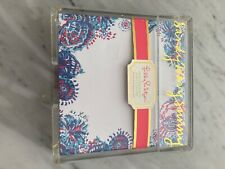 lilly pulitzer note sheets acrylic holder