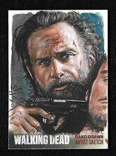 The Walking Dead Season 4 Part 2 Sketch Card 1/1 RICK GRIMES Artist Potratz Hai