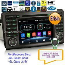 Android 9.0 Navigatore Mercedes ML GL Class W164 X164 Autoradio DAB+TPMS 4G 3961