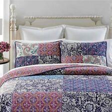 Martha Stewart Quilt KING Potpourri Patchwork Purple Floral