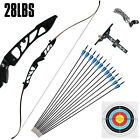 Recurve Bow Set 28LBS Archery Bow Arrow 12PCS Adults Youth Shooting Practice