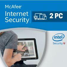 Mcafee Internet Security 2018 2 dispositivos 2 PC 1 Año EU / es