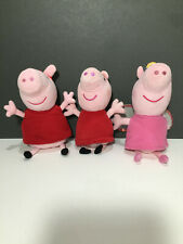 3 Peppa Pig Plush Toys Bundle