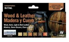 Vallejo VLJ-70182 Wood And Leather Model Color Paint Set