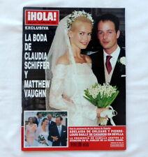 HOLA magazine marriage of CLAUDIA SCHIFFER & MATTHEW 2002